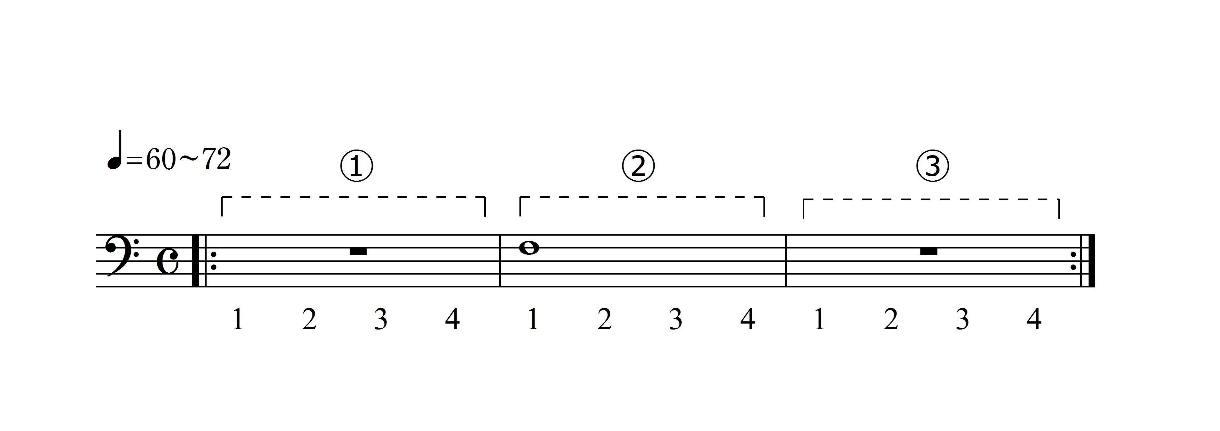 ロングトーンの練習例