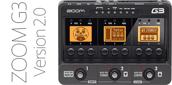 ZOOM G3 Version 2.0
