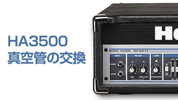 Hartke-HA3500-真空管の簡単な交換方法