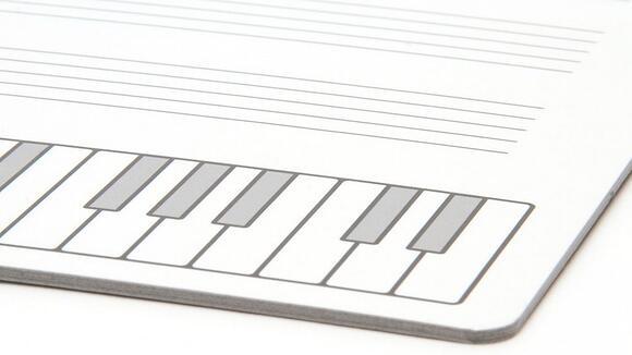 五線譜のホワイトボード