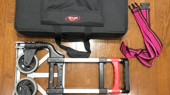 【機材運搬】キャリカートへのペダルボードやケース類の固定方法