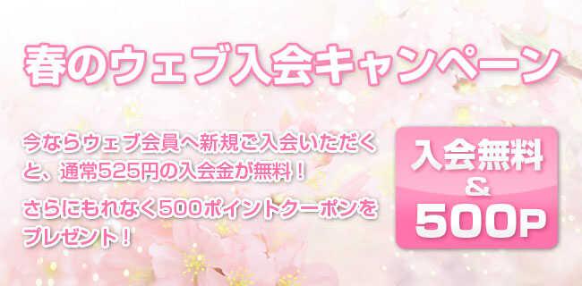 春のウェブ入会キャンペーン   スタジオラグ